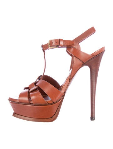 Leather Tribute Platform Sandals