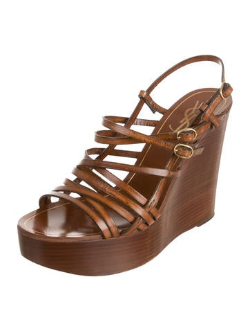 Leather Multistrap Wedges