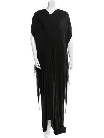 Yves Saint Laurent Silk-Trimmed Overlay Dress None