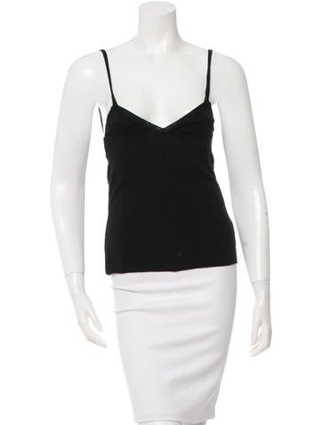 Yves Saint Laurent Sleeveless Rib Knit Top w/ Tags None