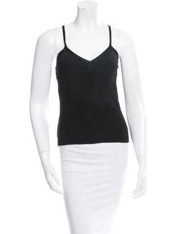 Yves Saint Laurent Wool & Silk-Blend Sleeveless Top w/ Tags None