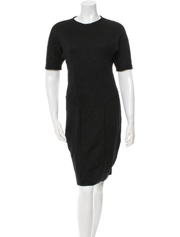 Yves Saint Laurent Fitted Knit Dress None