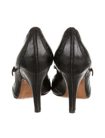 Brogue T-Strap Sandals