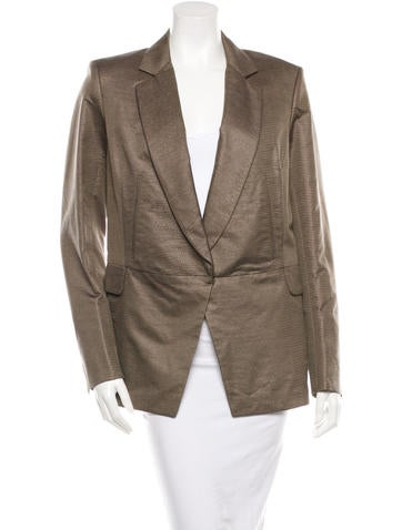 Yves Saint Laurent Single-Breasted Long Sleeve Blazer w/ Tags