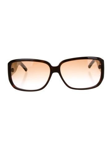 Yves Saint Laurent Brown Gradient Lens Sunglasses