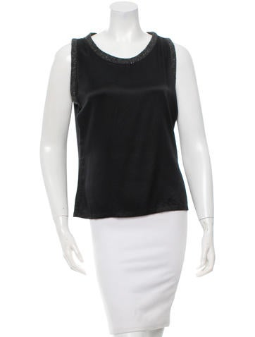 Yves Saint Laurent Silk Sleeveless Top None