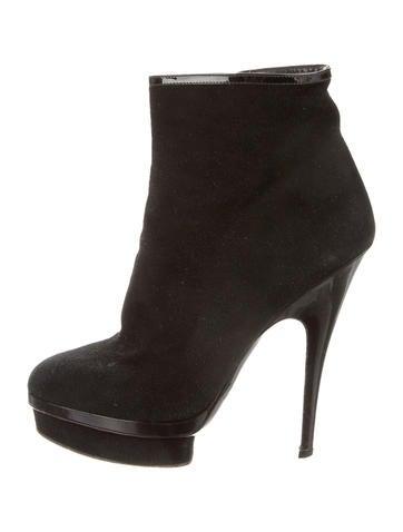 Suede Platform Ankle Boots