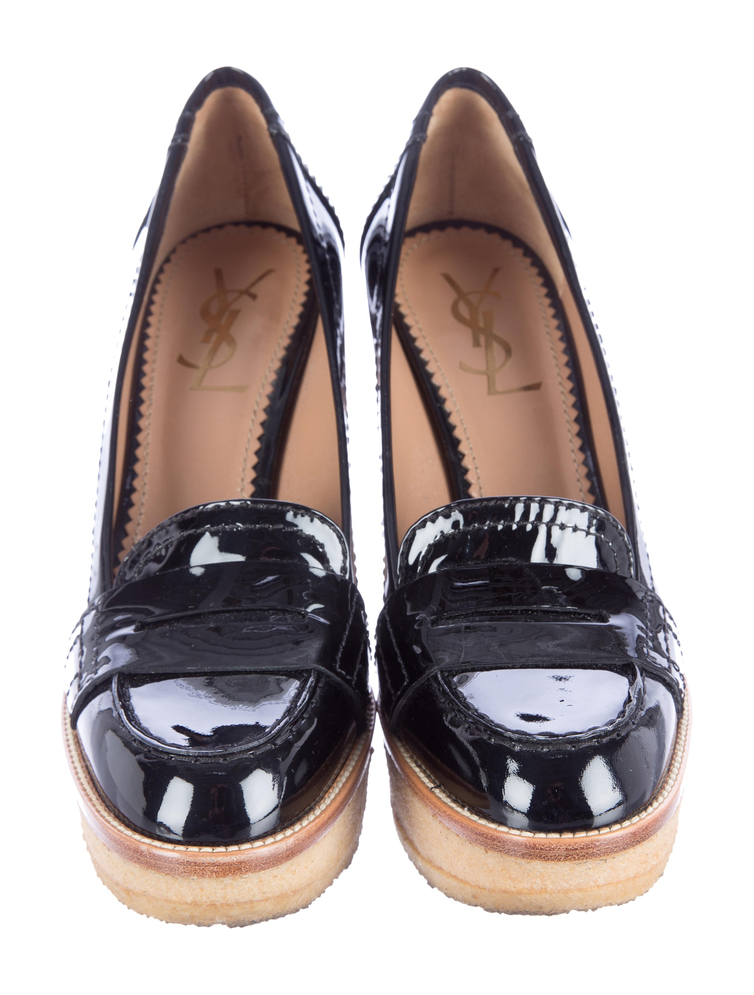 yves laurent loafer wedges shoes yve45429 the