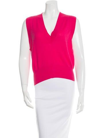 Yves Saint Laurent Wool Sleeveless Sweater None