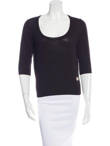 Yves Saint Laurent Short Sleeve Wool Sweater None