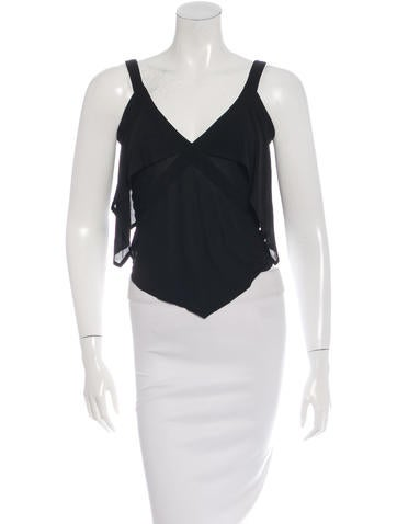 Yves Saint Laurent Sleeveless Cropped Top None