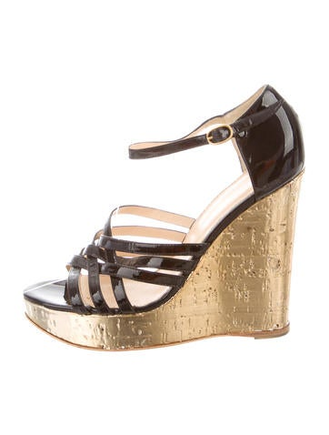 Yves Saint Laurent Multistrap Platform Wedges None