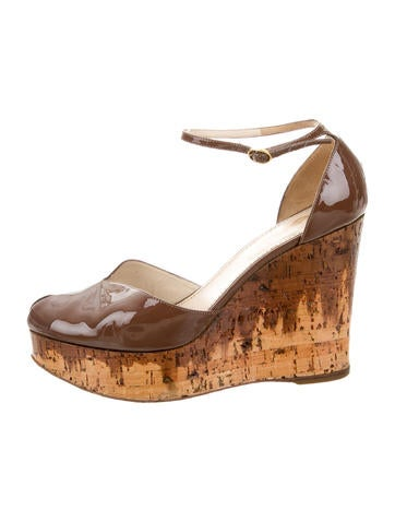 Yves Saint Laurent Cork Platform Wedges None