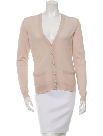 Yves Saint Laurent Embellished Wool Cardigan w/ Tags