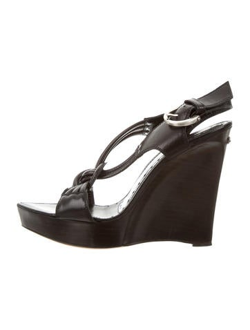 Yves Saint Laurent Multi-Strap Platform Wedges None