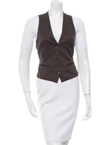 Yves Saint Laurent Sleeveless Button-Up Vest None
