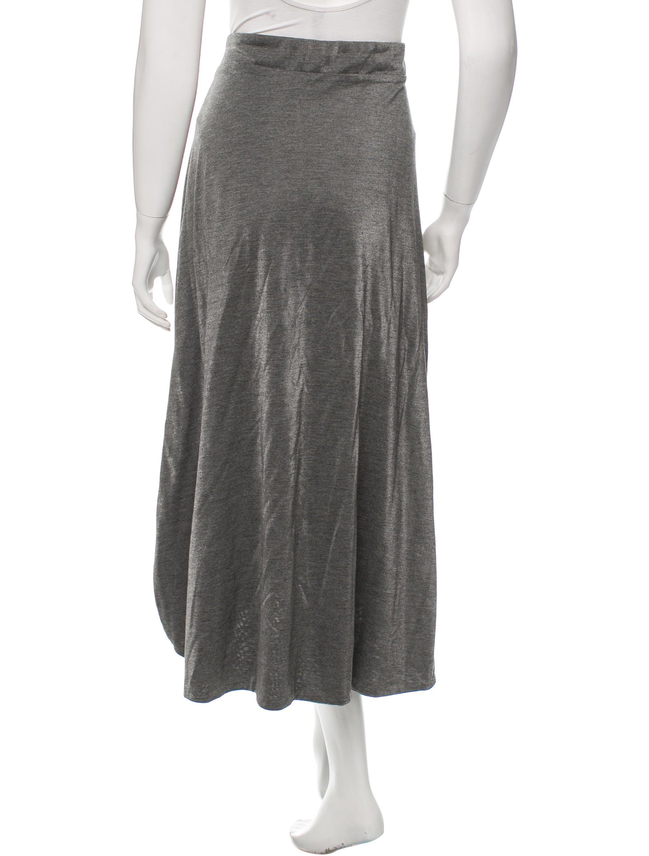 yves laurent casual midi skirt clothing yve51235