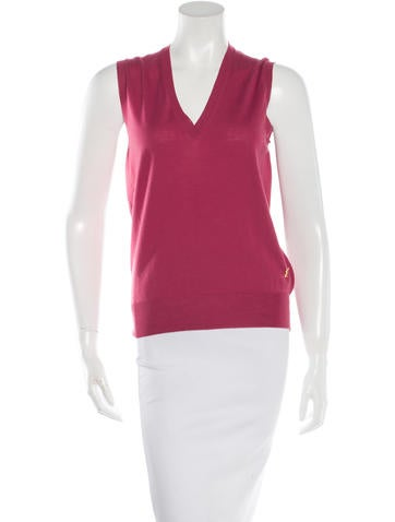 Yves Saint Laurent Wool Sleeveless Top None