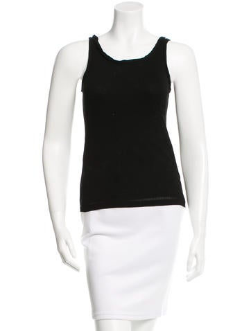 Yves Saint Laurent Sleeveless Stretch Top None