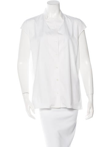 Yves Saint Laurent Sleeveless Button-Up Top None