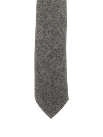 Yves Saint Laurent Woven Wool Tie None