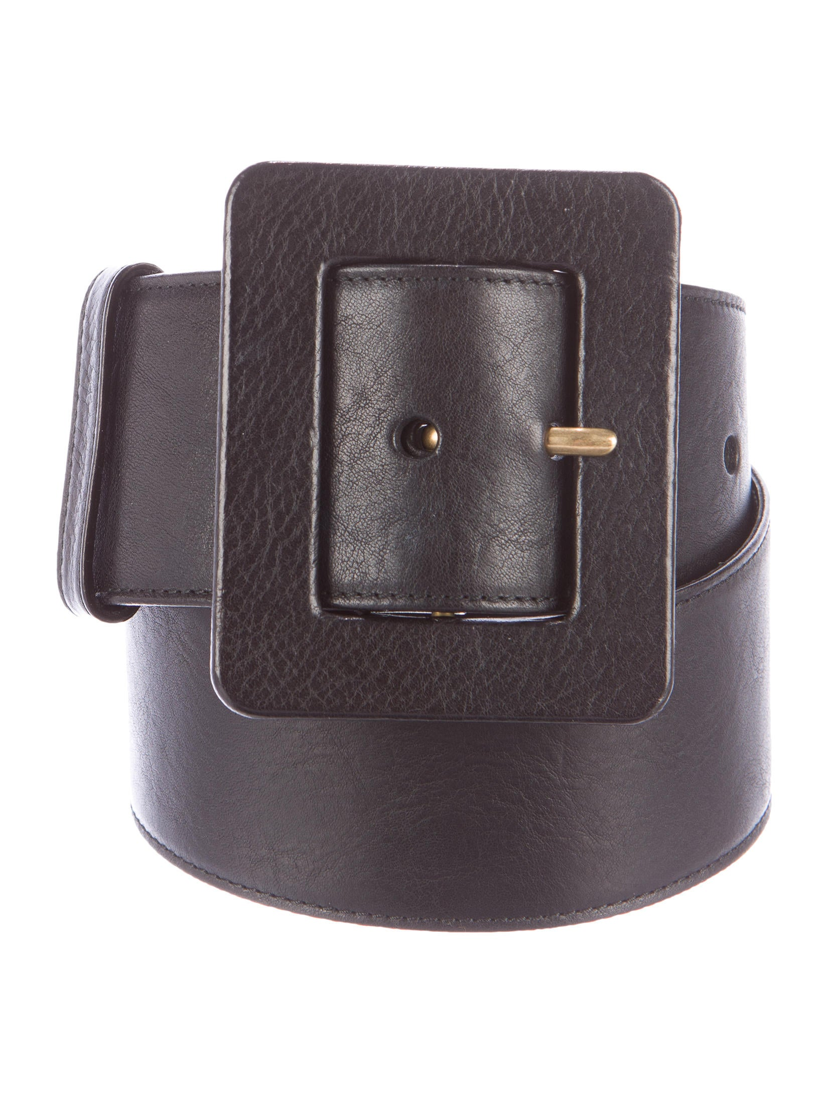 yves laurent wide leather belt accessories