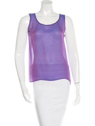 Yves Saint Laurent Sheer Sleeveless Top None