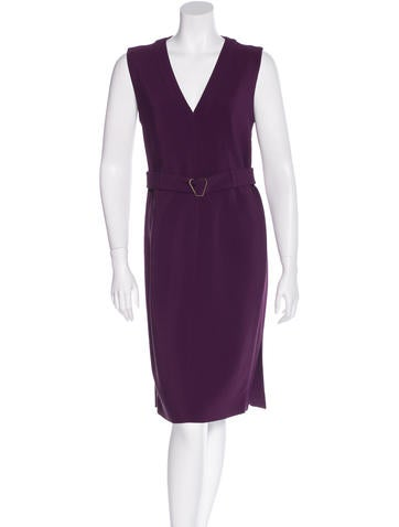 Yves Saint Laurent Sleeveless Sheath Dress None