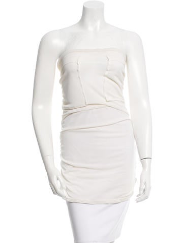 Yves Saint Laurent Sheer Strapless Top None