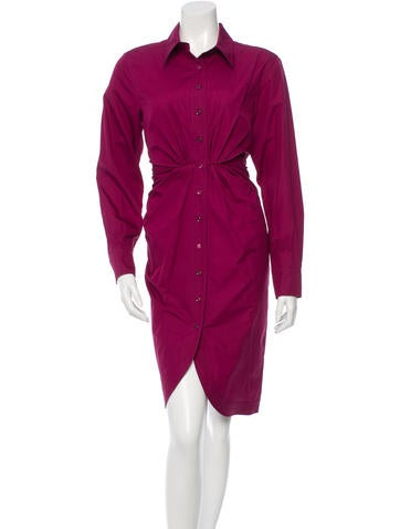 Yves Saint Laurent Long Sleeve Button-Up Dress w/ Tags