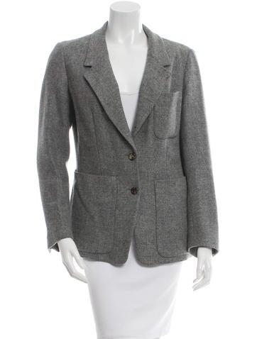 Yves Saint Laurent Wool Button-Up Blazer None