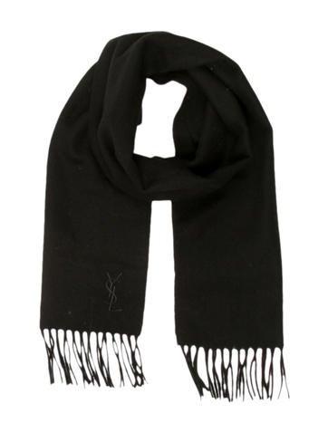 Yves Saint Laurent Fringe Wool Scarf None