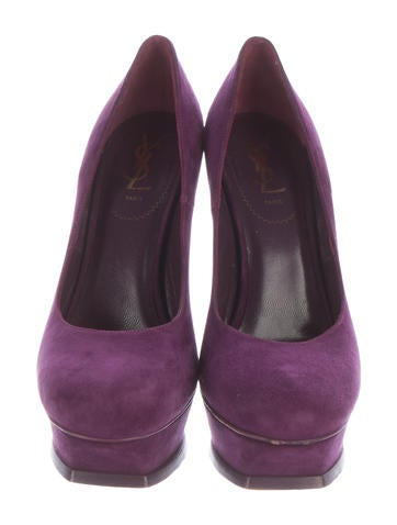 Suede Tribute Platform Pumps