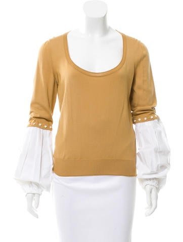 Yves Saint Laurent Cashmere Embellished Sweater None
