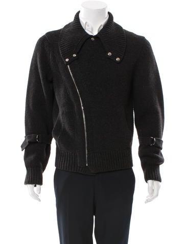 Yves Saint Laurent Virgin Wool Zip Cardigan None