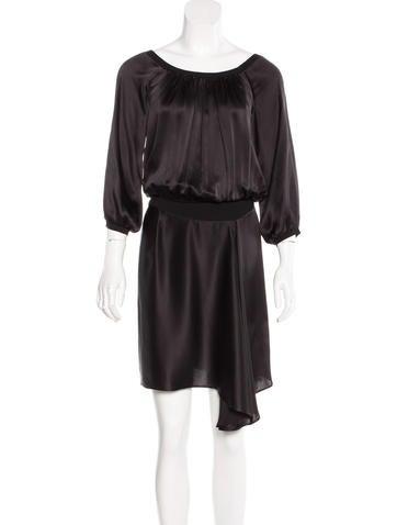 Yves Saint Laurent Silk Asymmetrical Dress None