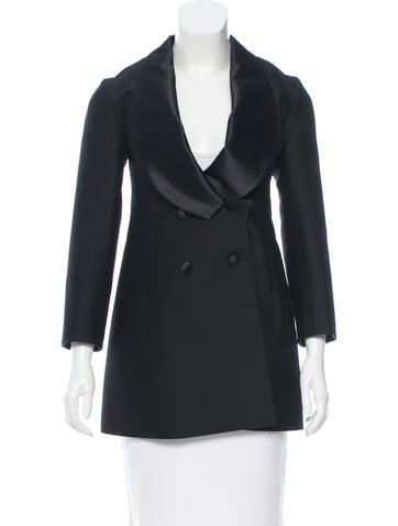 Yves Saint Laurent Double-Breasted Wool Blazer None