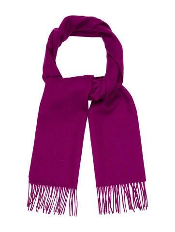 Yves Saint Laurent Wool Fringe Scarf None