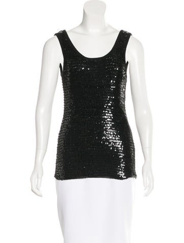 Yves Saint Laurent Sequined Sleeveless Top None