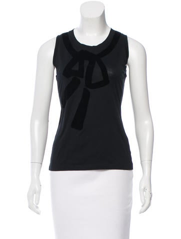 Yves Saint Laurent Sleeveless Patterned Top None