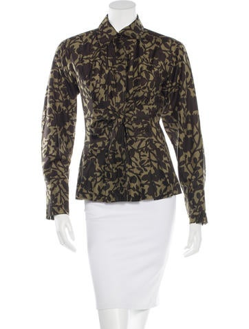 Yves Saint Laurent Printed Button-Up Top None