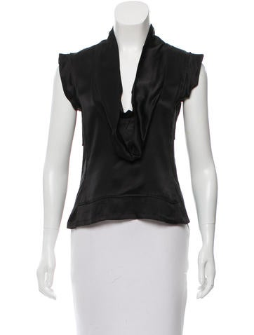 Yves Saint Laurent Silk Sleeveless Top None