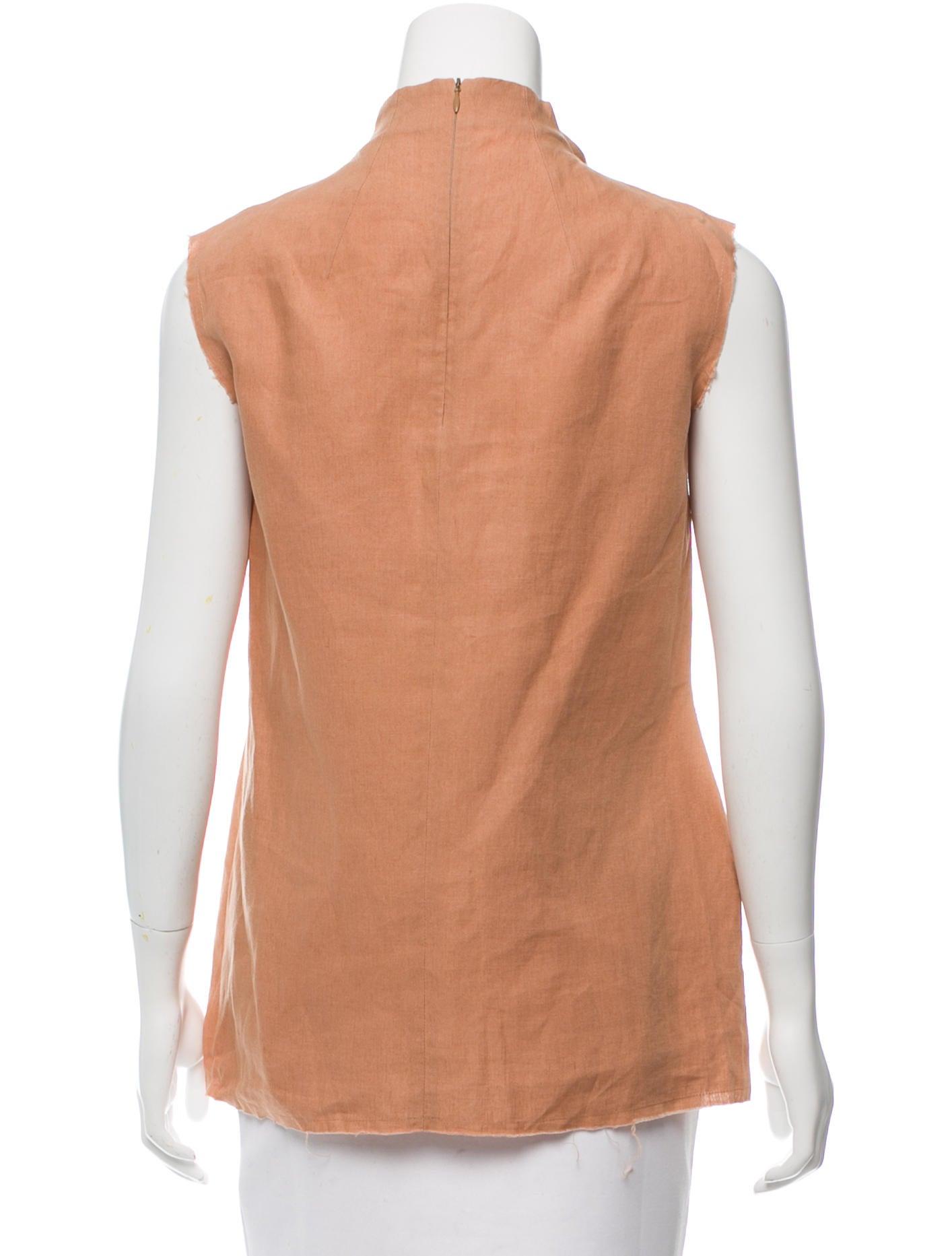 Yves Saint Laurent Sleeveless Mock Neck Top Clothing