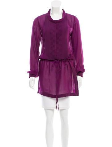 Yves Saint Laurent Silk Button-Up Tunic None