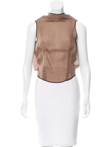 Yves Saint Laurent Sheer Silk Top None
