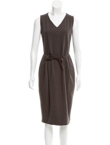 Yves Saint Laurent Sleeveless Midi Dress None