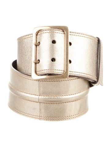 Yves Saint Laurent Metallic Waist Belt