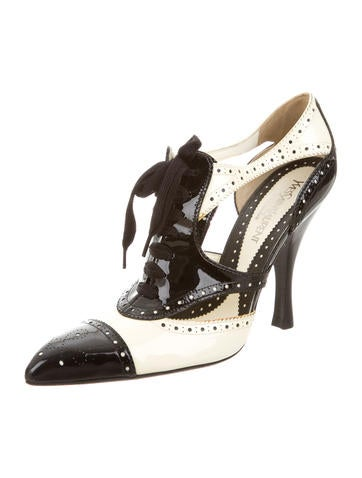 Patent Leather Cutout Pumps