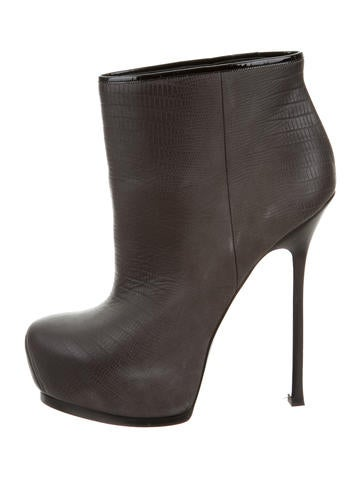 Yves Saint Laurent Embossed Ankle Boots