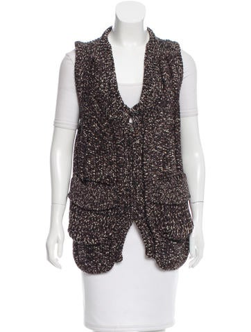 Yves Saint Laurent Wool Sleeveless Cardigan None